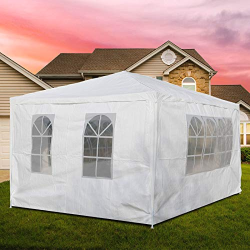 Youyijia Outdoor Gazebo Tent 3X4M With Sides Outdoor Waterproof Awning For Beach Party Festival Camping