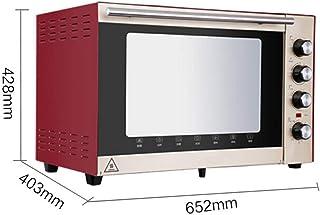 IG Mini Horno de 70 litros con Ajuste de Temperatura 100-250 ℃ y Temporizador de 0-120 Minutos, Horno de Puerta de Vidrio de Tres Capas de 1500 vatios Rojo