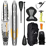 SKINFOX Marlin Grand Touring - Juego de tabla de surf de aluminio (420 x 76 x 15 cm), color blanco