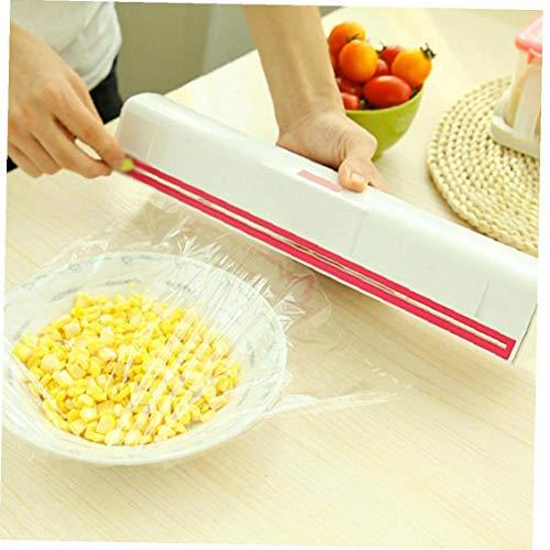 NiceButy Alimento Plástico Cling Wrap Film Dispensador Conservante Cortador De Cocina Accesorios...