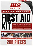 M2 BASICS Premium Compact First Aid Kit for Home, Outdoors, Travel, Car   Molle Compatible   Hiking, Camping, Backpacking, Cycling