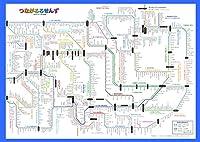 「つながるろせんず 東北地方」 ひらがな路線図 全路線全駅掲載 A2サイズポスター 【路線図屋】