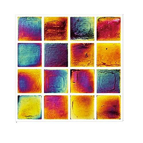 FLLKIHH 50PCS Pegatinas De Azulejos, Pegatinas De Pared De Cristal 3D Autoadhesivas En Azulejos Peel Stick Papel Pintado Impermeable Backsplash para Sala De Estar Cocina,A