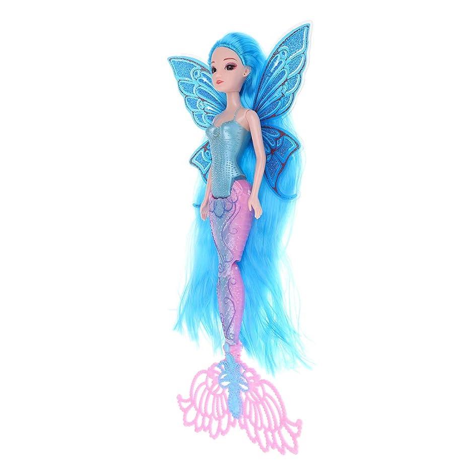 急行する処方するバンきれい 人魚お姫様 人魚ドール 長い髪の毛 関節人形 おもちゃ ブルー