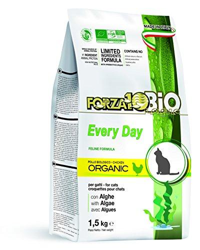 FORZA forza10 Every Day Pollo et Les algues (goût Poulet), Bio Croquettes pour Chat, 1er Pack (1 x 1,5 kg)