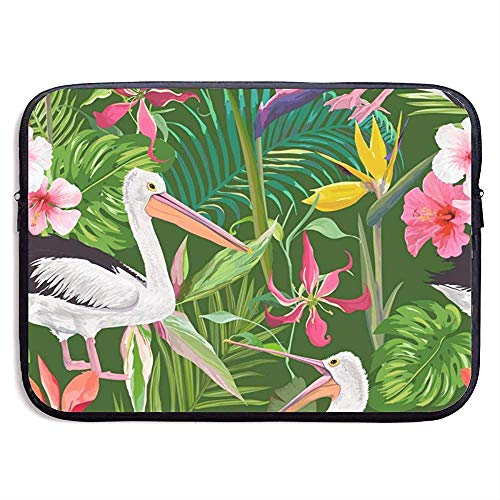 15 Inch Laptop Case Sleeve with Tropical Nature with Pelicans (1) Fits Laptop, Tablet