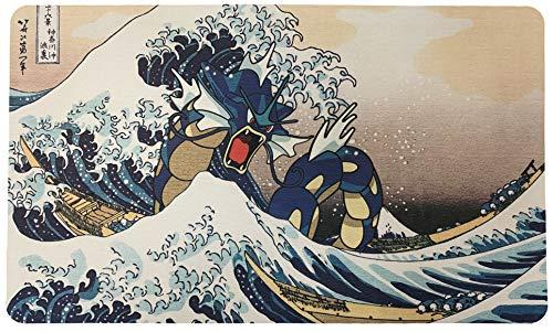 Pokemon Themed Playmat - Gyarados - Wave Off Kanagawa - Card Game Mat - Large (23.5 inches x 14 inches)