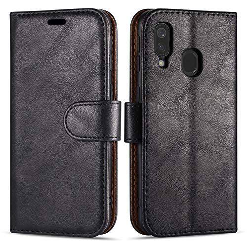 Hülle Collection Hochwertige Leder hülle für Samsung Galaxy A40 Hülle (5,9