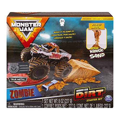 Monster Jam, Zombie Monster Dirt Starter Set, Featuring 8oz of Monster Dirt and Official 1:64 Scale Die-Cast Monster Jam Truck