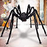 Aiduy Outdoor Halloween Decorations Scary Giant Spider Fake Large Spider Hairy Spider Props for Halloween Yard Decorations Party Decor, Black, 79 Inch (Kitchen)