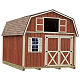 Best Barns Millcreek 12 ft. x 20 ft. Wood Storage Shed Kit with Floor including 4x4 Runners