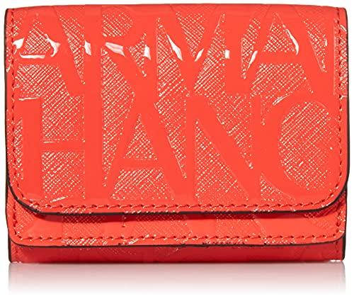 Armani Exchange Mini Wallet, Travel Accessory - Cartera bi-Fold para Mujer, Rojo, Talla única