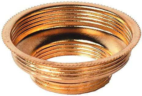 Solid Brass Oil Lamp Expander Collar to Convert from 1 to 2 Burner product image