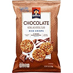 Quaker Rice Crisps, Chocolate, 3.52 oz Bag (Packaging May Vary)