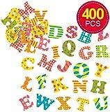 Baker Ross Lustige, Selbstklebende Moosgummi-Buchstaben für Kinder zum Gestalten und Verzieren von Karten und Anderen Bastelarbeiten (400 Stück)