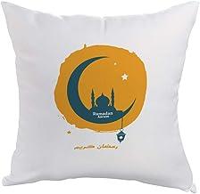 مخدة بطبعة رمضان كريم ، قماش بوليستر 40cm X 40cm
