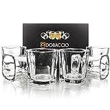 Quadratische Schnapsgläser für Whisky, Brandy, Tequila Shooting Trinkglas, 57 ml 6 Stück