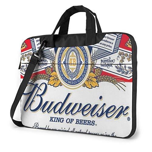 Laptop-Hülle, Budweiser Bier Aktentasche Messenger Notebook Computer Tasche 15,6 Zoll