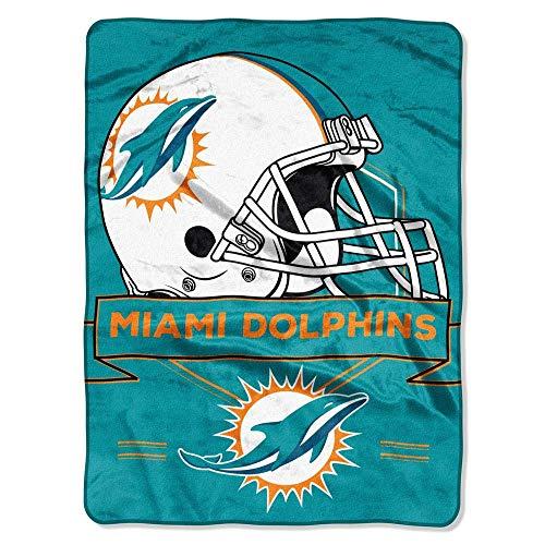 The Northwest Company Throw Miami Dolphins NFL Royal Plush Raschel (Prestige Series), 60