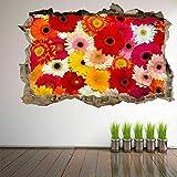 Etiqueta De La Pared 3D -Flores Decorativas Arte De La Pared Pegatinas Mural Calcomanía Salón De Belleza Decoración Em22 Vinilos Pared, Decoracion Hogar 80x125cm