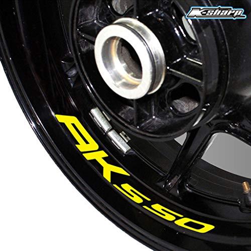psler Neumático de la motocicleta reflectante creativo pegatina Etiqueta de llanta de rueda para KYMCO AK 550