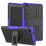 95sCloud Ersatz für Lenovo Tab E7 TB-7104F Tablette Hülle Cover Backcove Stoßfeste Doppelte Schutzhülle mit Ständer Anti-Fall Kratzfest Cover Hülle kompatibel für Lenovo Tab E7 TB-7104F (Lila)