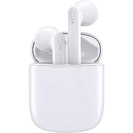 【令和3年人気モデル Bluetooth イヤホン】 完全 ワイヤレスイヤホン Bluetooth イヤホン ブルートゥースイヤホン Bluetoothヘッドセット 自動ペアリング Hi-Fi重低音 マイク内蔵 ハンズフリー通話勤務/ビジネス 超軽量 小型 IPX7防水 運転 CVC8.0ノイズキャンセリング 両耳/片耳 左右分離型