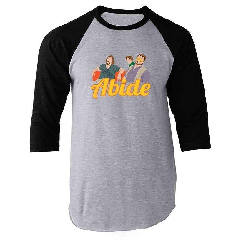 Pop Threads The Dude Abides Minimalist Raglan Baseball Tee Shirt