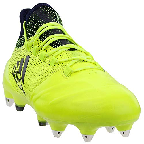 adidas Mens X 17.1 Leather Soccer Cleats - Yellow - Size 6.5...