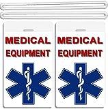 2x Medical Cross At Bottom Equipment ID Luggage Tags TSA Carry-On CPAP BiPAP Sleep APNEA POC