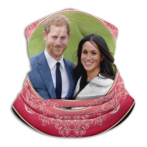 Head Wrap Red Harry And Meghan Royal Wedding Decorative Plate Bandanas Seamless Sun Protection Motorcycling Neck Gaiter Warmer Men Personalized Printed Women Breathable