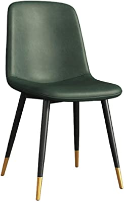 Chair - Modern Minimalist Dining Chair Home Kitchen Backrest Single Leisure Chair Nordic Restaurant Cafe Bedroom Accent Chair (Multiple Colour Available) (Color : Green)