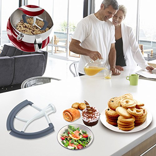 Gvode Flex Edge Beater Works with KitchenAid Bowl-Lift Stand Mixer 6 quart-Flat beater with silicone edge