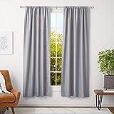 AmazonBasics - Barra para cortinas con remates redondeados, 91-182 cm, Níquel