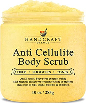 Handcraft Cellulite Treatment Body Scrub - All Natural Ingredients – Penetrates Skin, Targets Unwanted Fat and Improves Skin Firmness – 10 oz