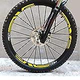 Gotor® 自転車 タイヤ ステッカー 27.5inch用 29inch用 2枚セット (イエロー, 29インチ)