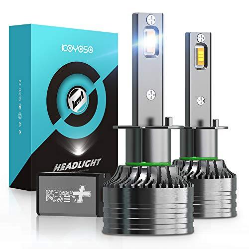 Ampoules H1 LED 16800LM pour Voiture, KOYOSO 100W LED Phares 6500K Blanc, 12V