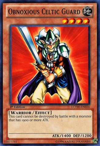 YU-GI-OH! - Obnoxious Celtic Guard (LCYW-EN036) - Legendary Collection 3: Yugi's World - Unlimited Edition - Common