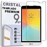 REY Protector de Pantalla para LG L Bello Cristal Vidrio Templado Premium
