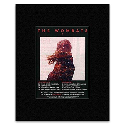 Q WOMBATS - wrzesień - październik 2015 UK Tour Mini plakat - 13,5 x 10 cm
