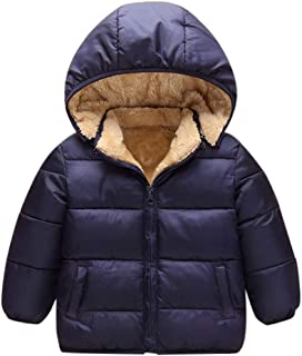 Jchen(TM) Toddler Baby Kids Little Boy Girl Winter Hooded Jacket Thick Keep Warm Outerwear Coat for 1-6 Y