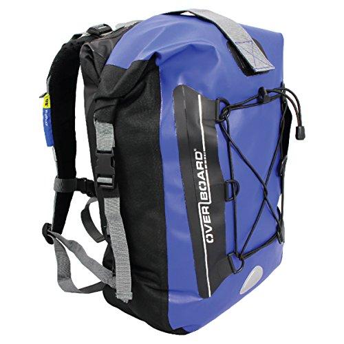Overboard Premium Wasserdichter Rucksack | 30 Liter Auftriebskörper | 100% wasserdichter Dry Bag Rolltop Rucksack | mit 2-Wege-Falz-Dichtungssystem (Blau)