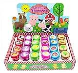 Tiny Mills 24 Pcs Barnyard Farm Animals Stampers for Kids