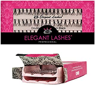 0177402f08c Elegant Lashes Double Flare Medium Black Individual Eyelashes (Double Pack  - 2 Trays)