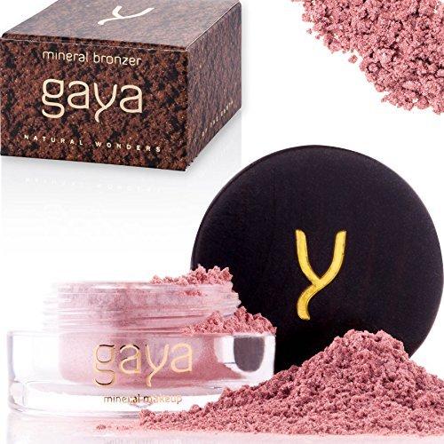 Gaya Cosmetics Bronzer Puder Highlighter - Veganes Gesichtspuder Makeup Contour Shimmer Powder für alle Hauttypen (MB1 Shade)