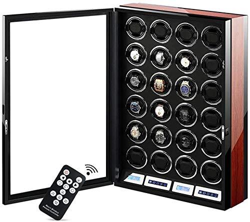 Cajas Giratorias para Relojes Reloj Devanaderas, Inteligente LCD De Pantalla Táctil + Control Remoto Mira Las Cajas De Almacenamiento con 5 Tipos De Luces LED mwsoz