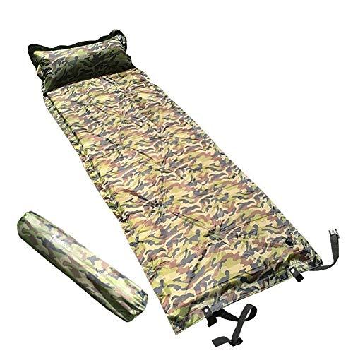 HOUMEL Aufblasbare Schlafmatte Camouflage Verbreiterte Isomatten mit Kissen Einzel Airbed Pad Ultraleichte und kompakte Selbst Isomatte for Backpacking Wandern Zelt (Size : 190 * 66 * 2.5cm)