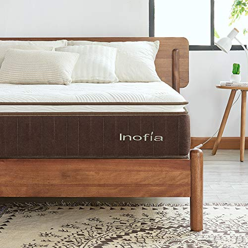 Inofia 4FT6 Double Mattress |7-Zone Orthopaedic Memory Foam Mattress with Pocket Sprung | Pressure Relieving | Cooling Sleep | OEKO-TEX Certified | Mattress-in-a-Box | 25CM Height