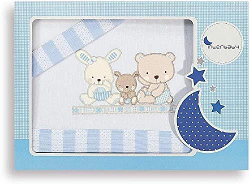 Interbaby Parure pour Berceau Love Bleu