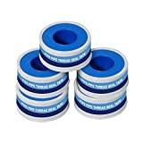 Supply Giant I33-5 PTFE Thread Seal Tape for Plumbers, White 1/2 Inch x 520 Inch (Pack of 5 Rolls)